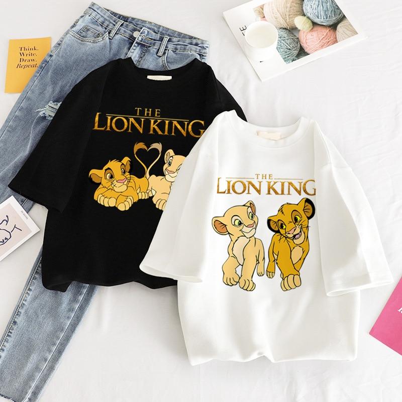 Hakuna matata Harajuku kawaii lion king graphic tees women tops aesthetic t shirt Crew neck summer clothes for women plus size(China)