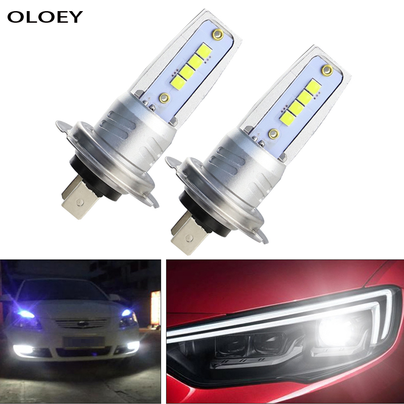 2 pcs Car H7 <font><b>Led</b></font> Headlight Fog Lamp Running <font><b>Light</b></font> <font><b>Bulb</b></font> 6000K Turning Parking <font><b>H4</b></font> Head <font><b>Bulb</b></font> 12V image