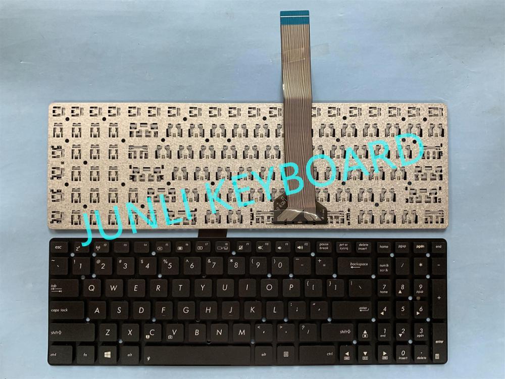 JUNLI Клавиатура для ноутбука Asus K55 A55V K55V A55VM K55VD R500v R700V A751 K751 K55VJ K55VM K55VS K55XI US клавиатура для ноутбука