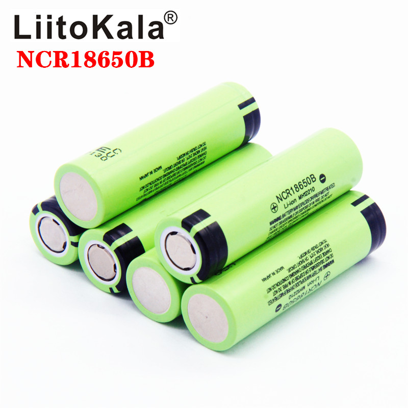 Hot liitokala original NCR18650B 3.7V 3400 mah 18650 3400mah for rechargeable lithium battery(China)