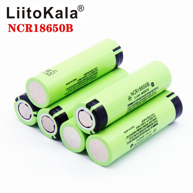 Горячая liitokala Оригинал NCR18650B 3,7 V 3400 mah 18650 3400 mah для перезаряжаемой литиевой батареи