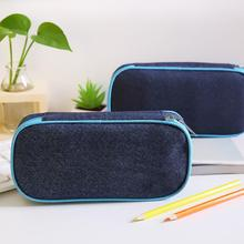 Chic School Pencil Case Bag Large Capacity Canvas Pen Box Stationery Supplies