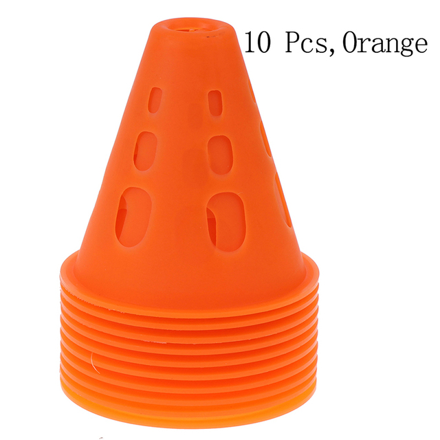 Soccer Trainning Cone 10pcs Stadium Marking Agility Training Marker Free Slalom Skate Pile Cup Football Training