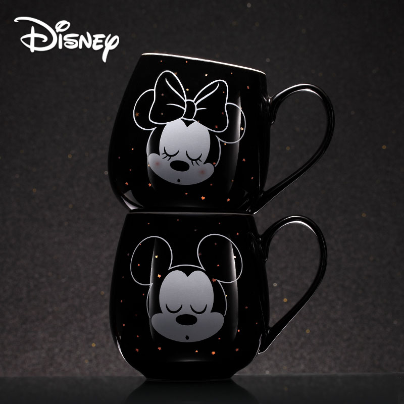 2019 Disney Creative Mug Mickey Minnie Cartoon Ceramic Cup Boy Girl Coffee Milk Cup Office Fashion Couple Cups Christmas Gift