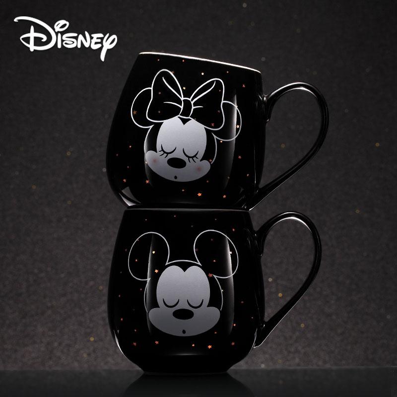 2019 Disney Creative Mug Mickey Minnie Cartoon Ceramic Cup Boy Girl Coffee Milk Cup Office Fashion Couple Cups Christmas Gift