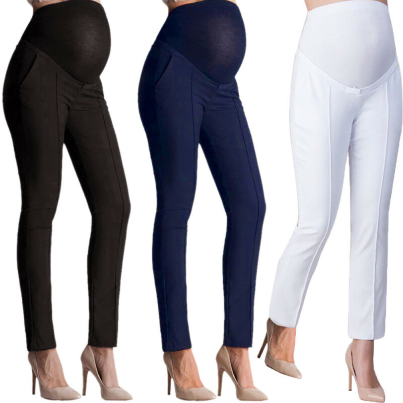 Goocheer Maternity Pencil Pants For Women Skinny Trousers Pregnancy Clothes Maternity Clothes Clothing Leggings For Pregnant