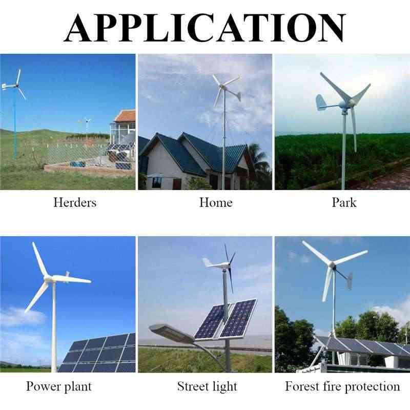 جديد 6000 واط 12 فولت 24 فولت 48 فولت 6 ألياف النايلون شفرة أفقي المنزل توربينات الرياح مولد الطاقة طاحونة الطاقة توربينات تهمة