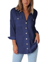 women blouse fashion 2020  female ladies clothing womens top chiffon turn down collar button shirt top 90s