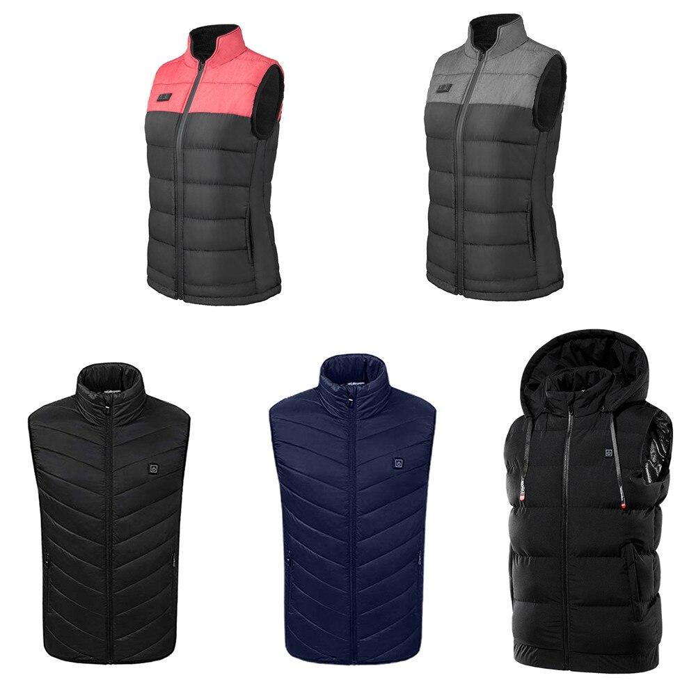 Heated-Vest Fishing-Clothing Infrared-Heating-Jacket Cycling Women Waistcoat Skiing Winter