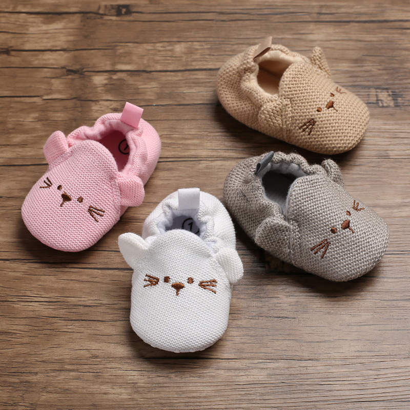 Newborn Baby Shoes Toddler Cute Cotton Mice  Warm Anti-slip Soft Sole Baby Socks Shoes First Walkers Infant Baby Crib Shoes