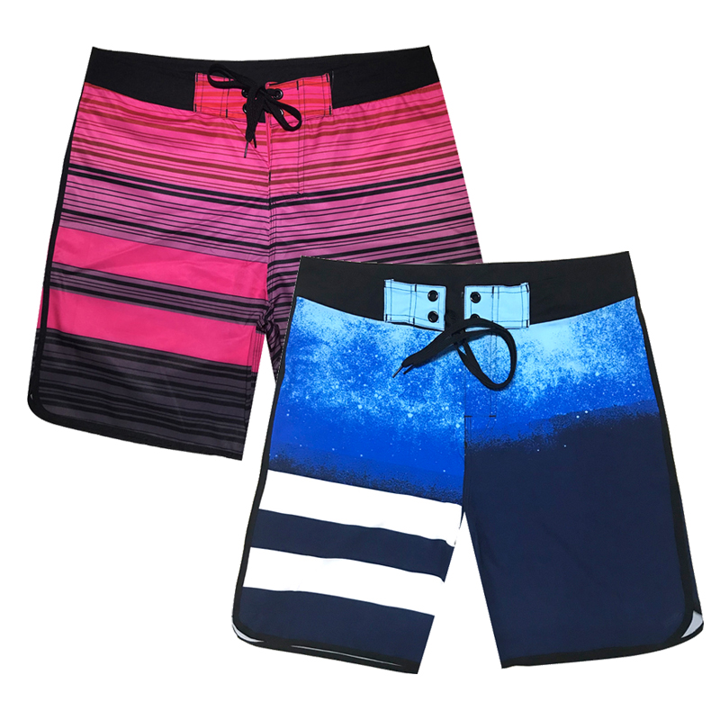 New Men Summer Swim   Shorts   Quick Dry   Board     Shorts   Swimming Galaxy Print Surfing Trunks Bermuda Beachwear Running Gym Beach   Short