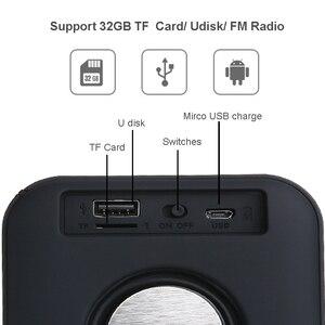 Image 3 - Altavoz portátil T5 inalámbrico por Bluetooth 4,2, Mini columna de altavoz con tarjeta TF y radio FM para exteriores