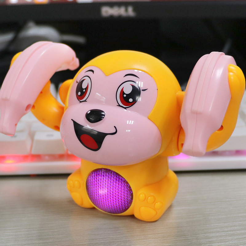 Electric Tilting Monkey Rolling Small Monkey Wisdom Expert Light Monkey Small Monkey Sound And Light Monkey Animal Product