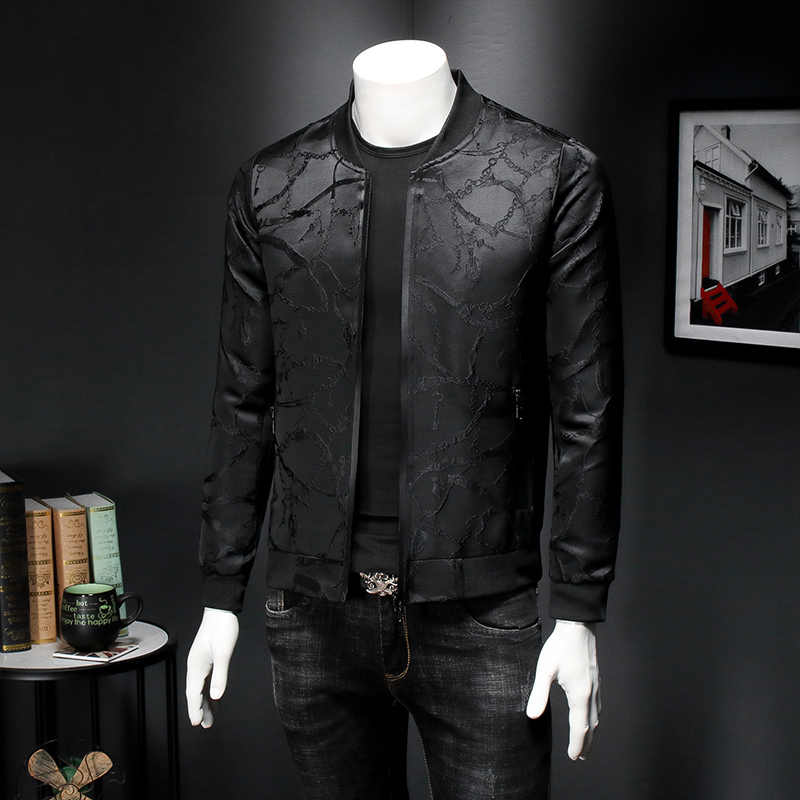 Vintage czarna kurtka męska wiosenna dopasowana Fit żakardowa kurtka Bomber płaszcz mężczyźni wysokiej jakości 5xl Chaqueta Hombre bomberka w stylu Casual strój
