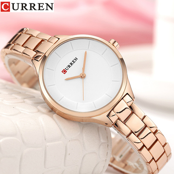 цена Women Watch Luxury Quartz Watches Lady Business Watch CURREN Stainless Steel Female Bracelet Clock Reloj Mujer Zegarek Damski онлайн в 2017 году