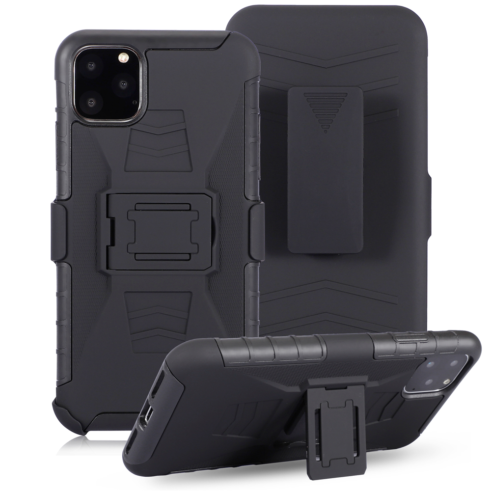 For iPhone 11 Pro max Heavy Duty Belt Clip Armor Case For