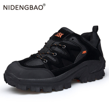 купить New High Quality men Hiking Shoes Autumn Winter Sneakers Outdoor Climbing Athletic Shoes Breathable Non-slip Men Sport Trekking дешево