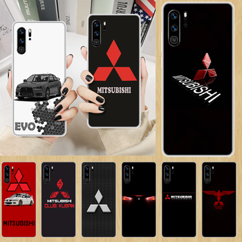 Car brand Mitsubishi EVO Phone Case hull For HUAWEI p 8 9 10 20 30 40 smart Lite 2017 19 Pro Z transparent coque fashion Etui image