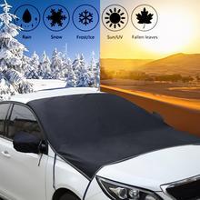 215*125cm voiture avant pare brise Anti feuille glace poussière neige soleil ombre UV protecteur couverture imperméable gel garde + côté miroir couverture