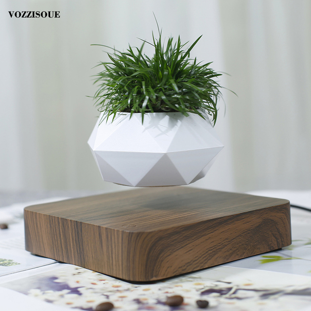 Hot Sale Levitating Air Bonsai Pot Rotation Planters Magnetic Levitation Suspension Flower Floating Pot Potted Plant Desk Decor 6