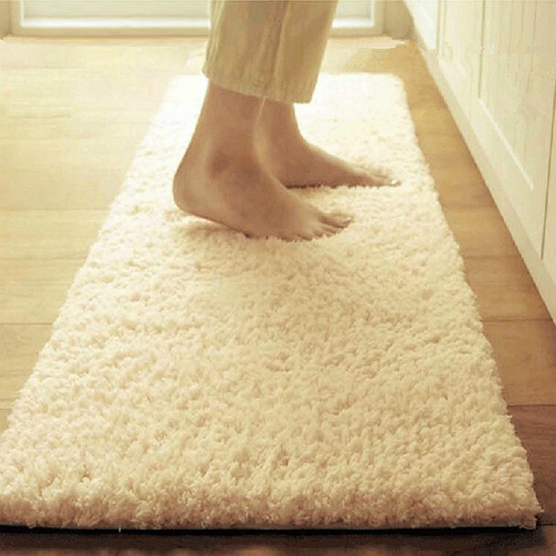 Thicked Shaggy Carpets For Kitchen Runners Rugs Washable Super Water Absorption Furry Floor Mat Tapis De Cuisine