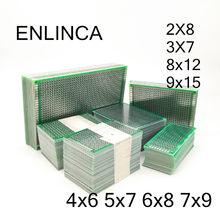 2-5 pces 5x7 4x6 3x7 2x8 6x8 7x9 8x12 9x15 duplo lado cobre protótipo pcb placa universal desenvolvimento experimental para arduino