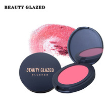 Beauty Glazed Face Blush Concealer Foundation Powder Long Lasting Peach Make up Waterproof Matte Shimmering Blush Palette DHL