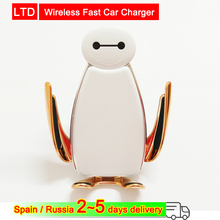 Wireless Car Fast Charger Automatic Clamping 10W Charging For Samsung Galaxy iPhone Xiaomi