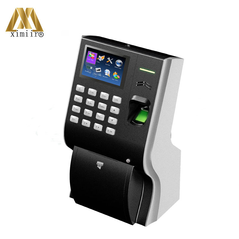 Good Quality LP400 Back up Battery T9 Input And TCP/IP Communication Fingerprint Time Attendance With Thermal Printer