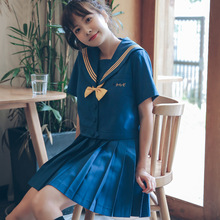 Japanese School Uniform Student Fashion Short Sleeve + Skirt Tie Kawaii Cosplay Sailor Suit Girl Women Anime Harajuku Clothes