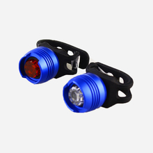 Aluminum Bicycle Cycling Front Rear Tail Helmet Red BlackLED Flash Lights Safety Warning Lamp Caution Light Waterproof