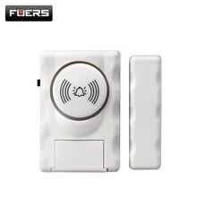 Fuers 무선 홈 보안 도어 창 알람 경고 시스템 자기 도어 센서 독립적 인 알람 무선 오픈 도어 감지기