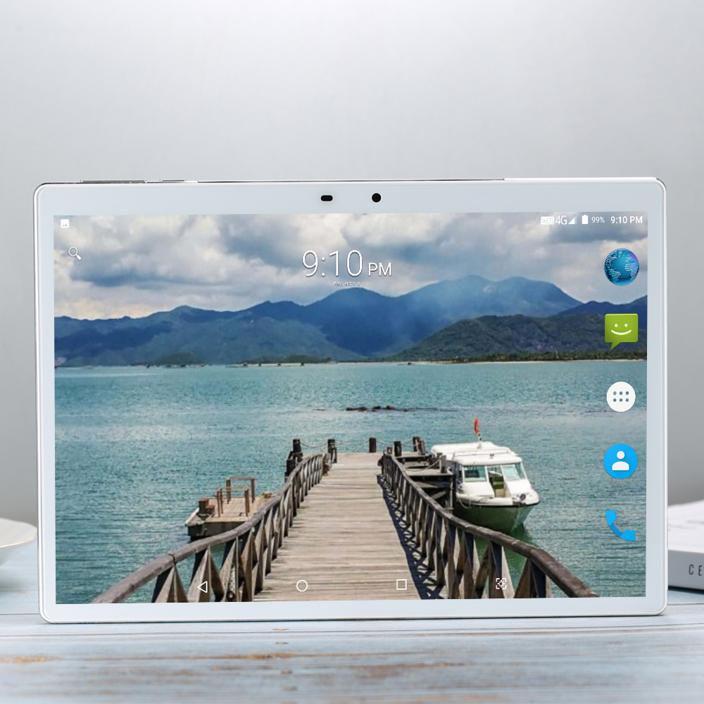 Deca 10 Core X20 Tablets Tempered Screen Tablet 10.1 Inch Android 9.0 8GB RAM 256GB ROM 3G 4G LTE 1920*1200 IPS 13.0MP 4G SIM