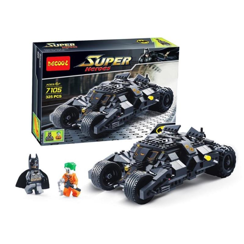 7105 Legoinglys Batman Os Carros Batmobile Tumbler Batwing Coringa Super Heróis Blocos Tijolos Crianças Brinquedos Presentes de Natal
