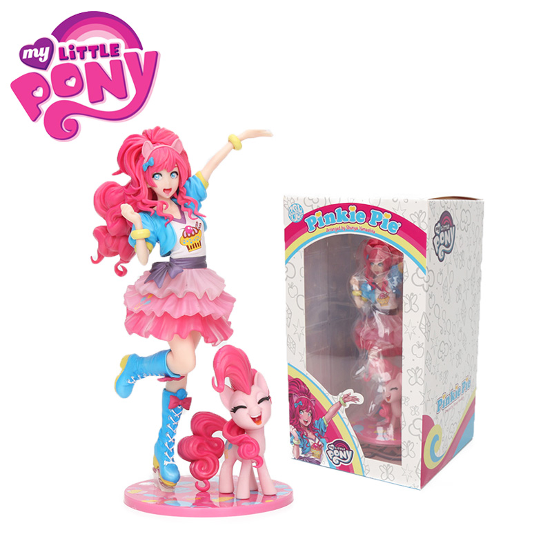 Exclusive 8-20cm My Little Pony Toys Pinkie Pie Bishoujo Statue PVC Action Figures Collectible Model Dolls Toys