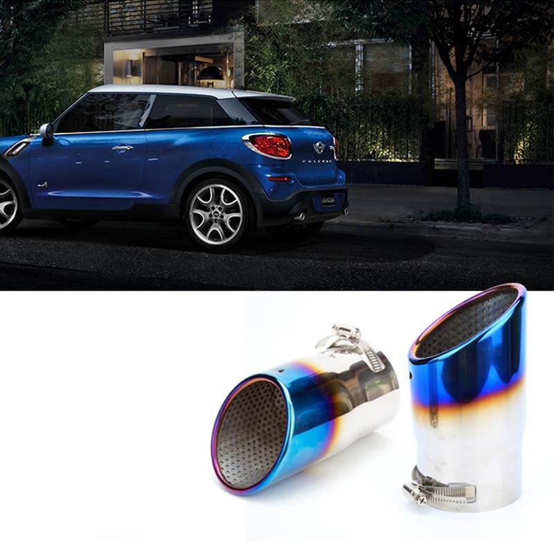 Accessoires de décoration extérieure de silencieux d'échappement d'acier inoxydable de voiture pour BMW MINI COOPER S JCW CLUBMAN F54 F55 F56 F60 R56 R60