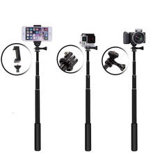 Portable aluminum alloy stretch telephoto stick, Gopro camera Mini mobile phone Bluetooth selfie stick for Iphone /redmi note 7/
