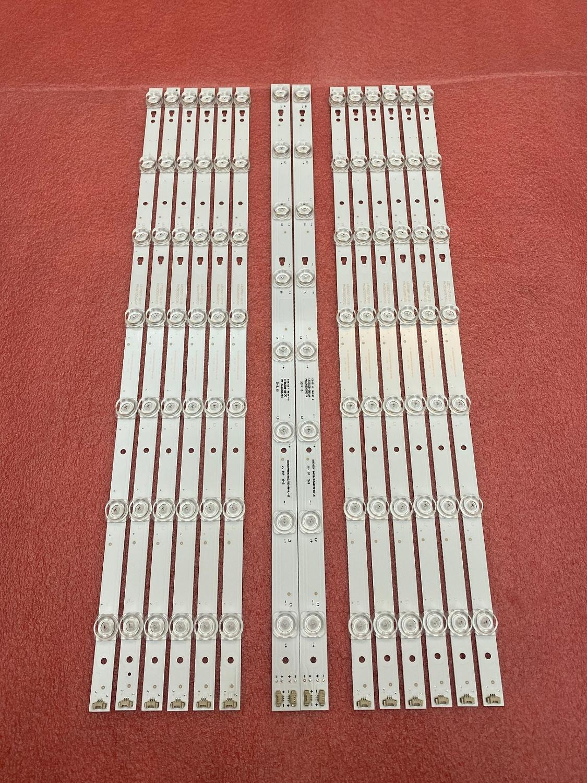 New Kit 14 PCS LED Backlight Strip For LT-55C550 LED55D08B-ZC14CG-02 LED55D07A-ZC14CG-02 30355008225 30355007206 LED55D8 LED55D7