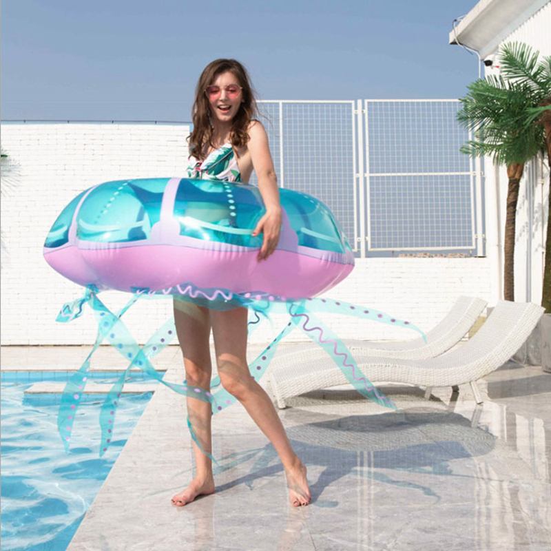 Jellyfish Inflatble Swimming Ring Giant Adult Swimming Circle As Life Buoy Air Mattress Pool Floating Row Water Party Child Toys