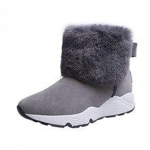 Swyivy plutônio botas de neve cunha sapatos mulher botas de inverno 2019 quente casual deslizamento em senhoras sapato botas de tornozelo para sapatos femininos plataforma