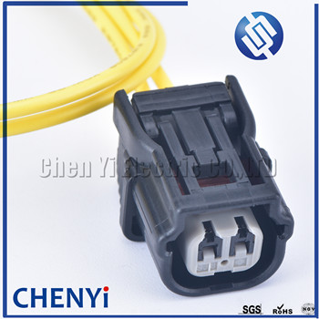 2 Pin way HV 040 Female Auto Connector ABS Sensor Plug Press Switch Ignition Coil For Honda 6189-7036 6189-6905 with 30cm wire image