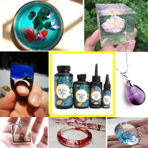 Women's 10/15/25/60/100/200g UV Resin Mold Hard Glue Solar Ultraviolet LED Cure Resina Activated for DIY Jewelry Tools
