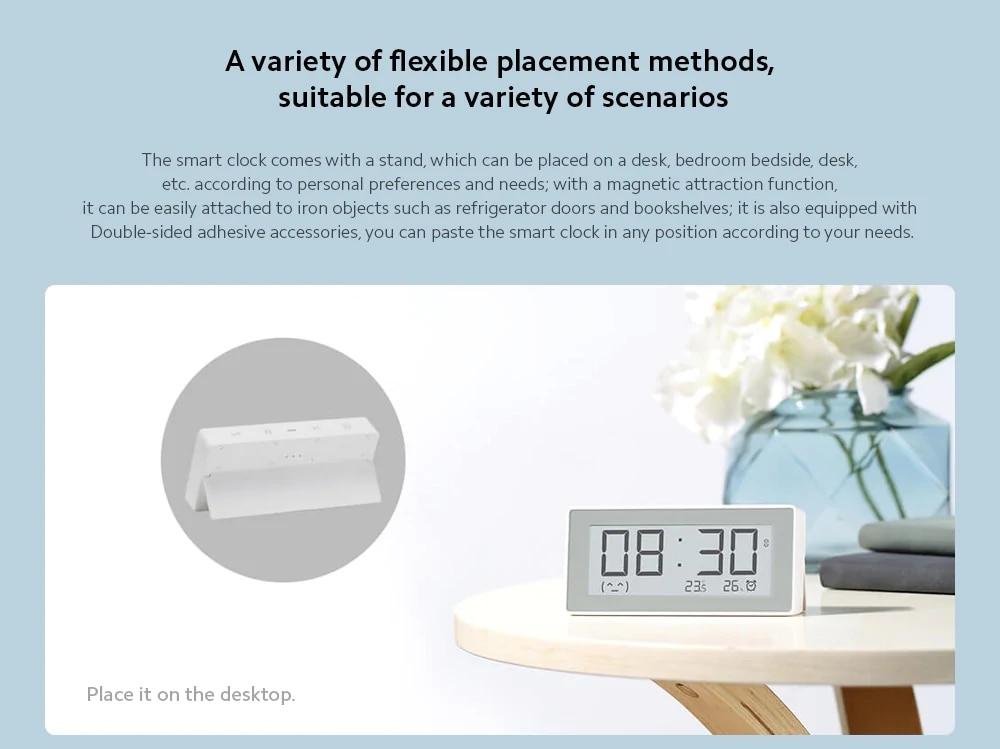 Original MiaoMiaoCe E-Link INK LCD Screen Digital clock Moisture Meter BT4.0 High-Precision Thermometer Temperature Humidity Sensor (4)