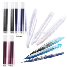 Ballpoint-Pen Casting-Molds Epoxy Resin Silicone DIY 3pcs with Refills 3-Colors-Pen Art-Craft-Tools