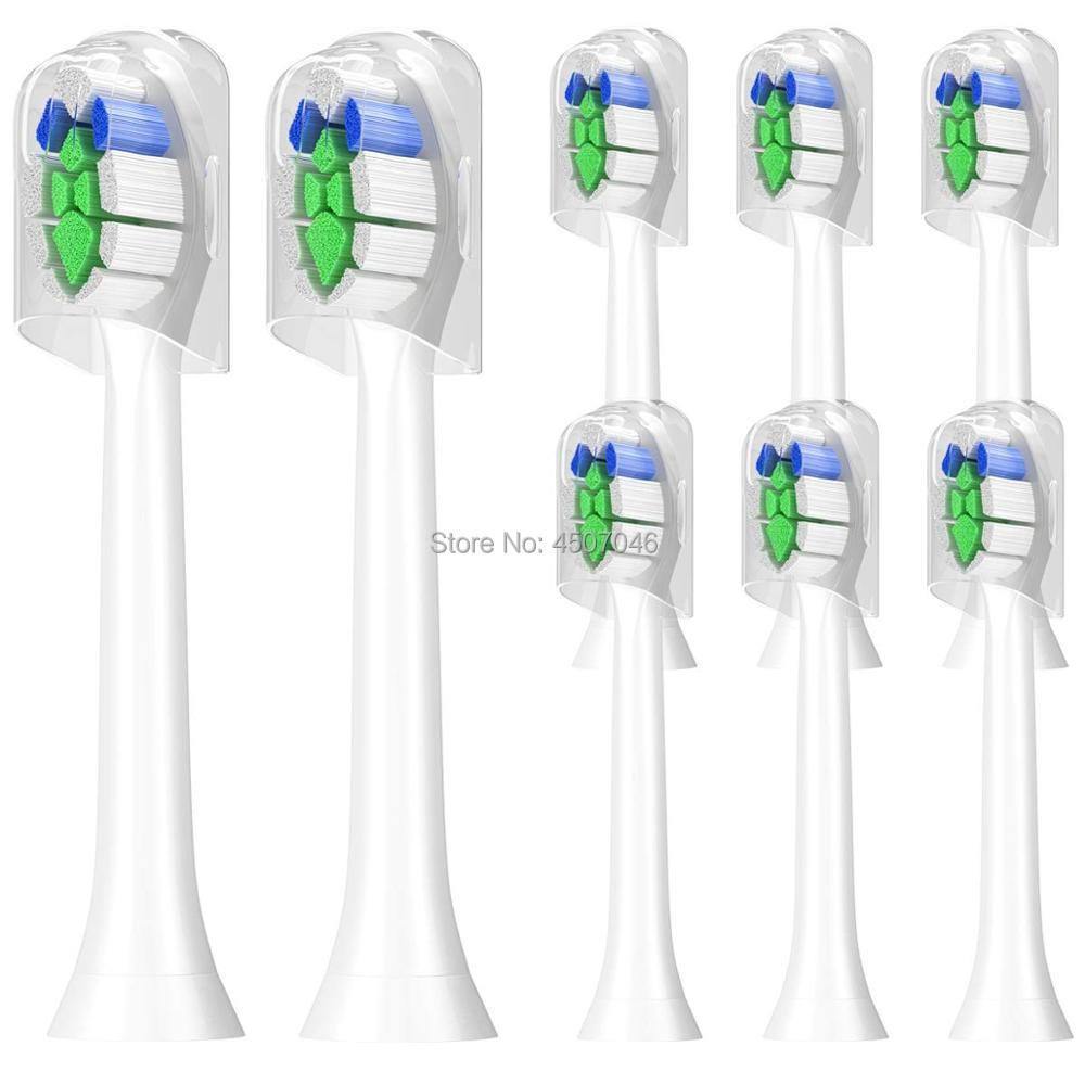 Tooth Brush HEADS For PHILIPS Sonicare HX6510 HX6511 HX6512 HX6530 HX6552 HX6616 HX6631 HX6632 HX6710 HX6722 HX6730 HX6732