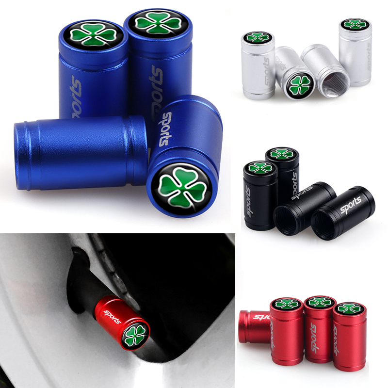 Car Styling 4Pcs Giulia Sport Emblem Wheel Tire Valves Caps Cover For Alfa Romeo 156 Giulietta 147 159 Mito Auto Accessories