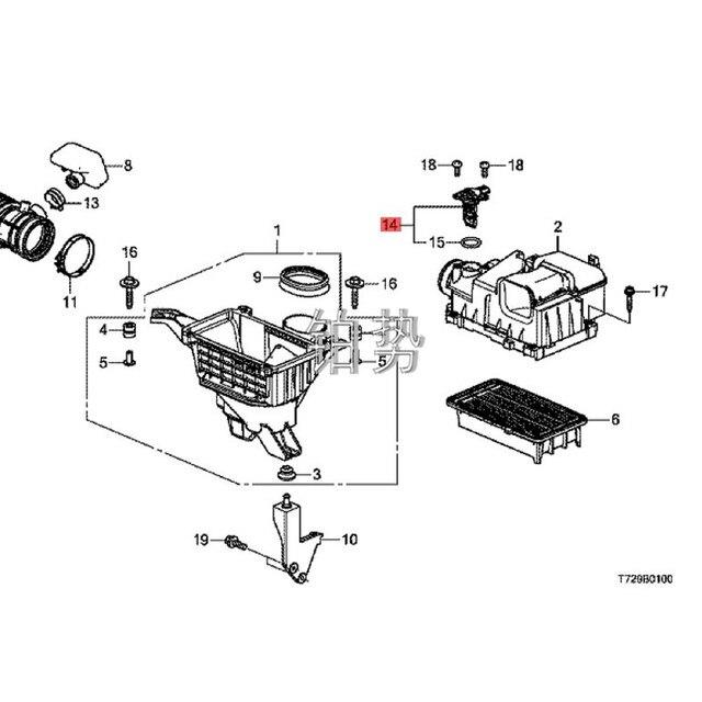 Capteur de débit dair pour voiture, collecteur dadmission, valve à vide, 2017