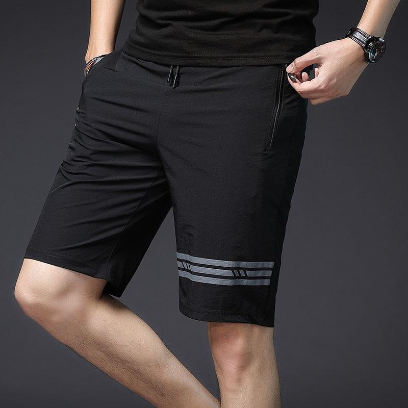 Compression Solid Shorts Men Casual Bermuda Masculina Beach Shorts Summer With Zipper Pockets Streetwear Sport Beach Shrots 3XL