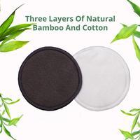 Almohadilla Facial de fibra de carbón de bambú reutilizable para niñas, eliminador de maquillaje