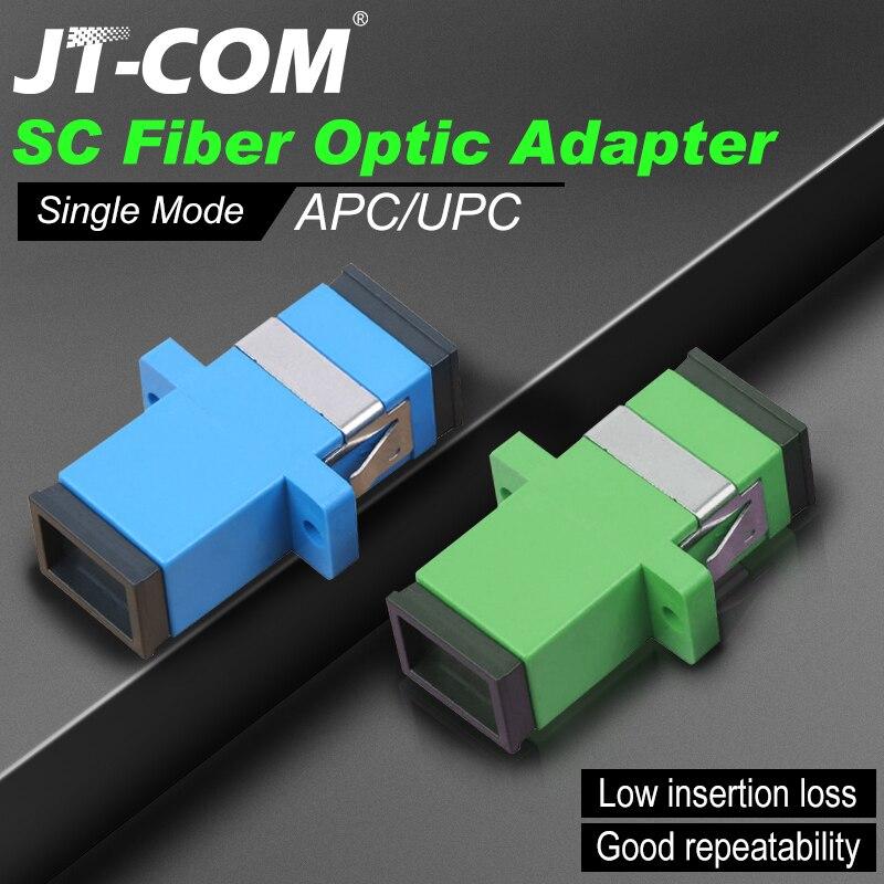Бесплатная доставка! 200 шт. SC волоконно-оптический соединитель Адаптер SC / UPC SM фланец одномодовый Simplex SC-SC APC оптовая продажа